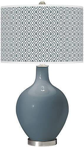 Smoky Blue Diamonds OVO Table Lamp - Color + Plus ()