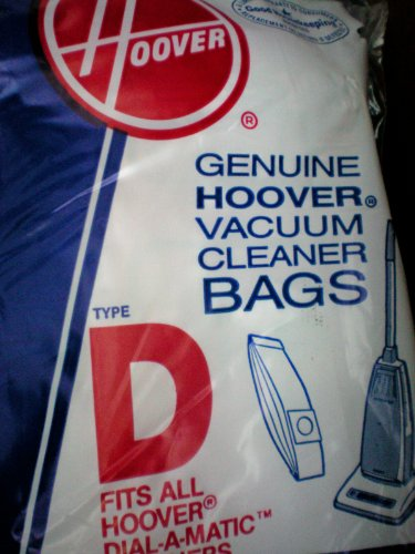 Vacuum Cleaner Bags -- Made to fit Hoover Dial-a-Matic -- All Models using Bag Type D -- 3 bag package (Hoover Dial)