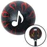 flame shifter knob - American Shifter Company ASCSNX1543445 White Music Note Black Flame Metal Flake Shift Knob with M16 x 1.5 Insert