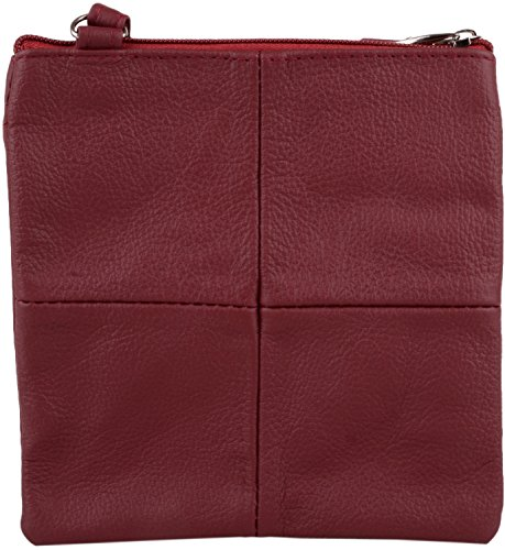 with Cross Shoulder Womens Red Ladies Leather Bag Features Body Small Multiple wFtf0Sq