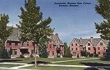 Bozeman, Montana - Dormitories at Montana State College (12x18 Art Print, Wall Decor Travel Poster)