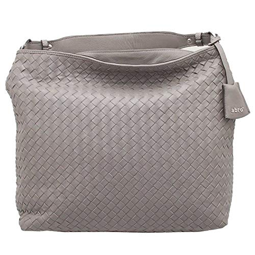 Handbag Abro Woven Grey Leather Shoulder OZZ46y