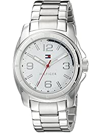 Men's 1791213 Tommy Sport Analog Display Quartz Silver Watch