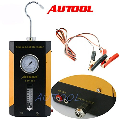 AUTOOL SDT-206 Automotive Car Vehicle Boat Conduit Pipe System Car PIPE Leakage Tester Car Fuel Leak Detector SDT206 Automotive Fuel leakage Diagnostic Tester Adjustable (Pipe Car System)