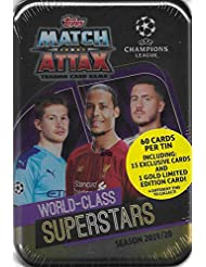 Match Attax 2019 2020 Topps UEFA Champions League Soccer Trading Card Game Sealed MEGA Collector's Tins with Bonus Gold Cards and Exclusive Inserts