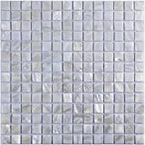 Art3d Oyster Mother of Pearl Square Shell Mosaic Tile for...