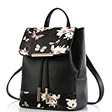 WINK KANGAROO Fashion Shoulder Bag Rucksack PU Leather Women Girls Ladies Backpack Travel bag (Butterfly B)
