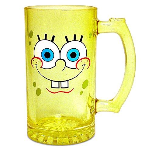 Silver-Buffalo-Spongebob-Squarepants-25oz-Heavy-Duty-Glass-Stein-Mug