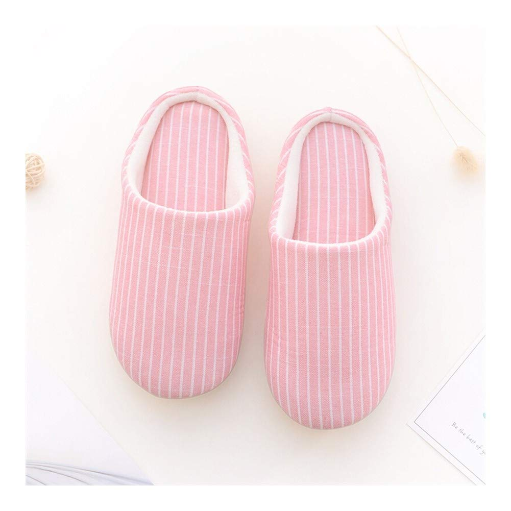 HOUSEHOLD Slippers Anti Slip Easy Close Wide Fitting Women's Slippers Washable Casual Comfortable Cotton Slippers Durable Classic Cozy Winter Indoor Shoes Slipper (Color : B, Size : XXXXL) by HOUSEHOLD