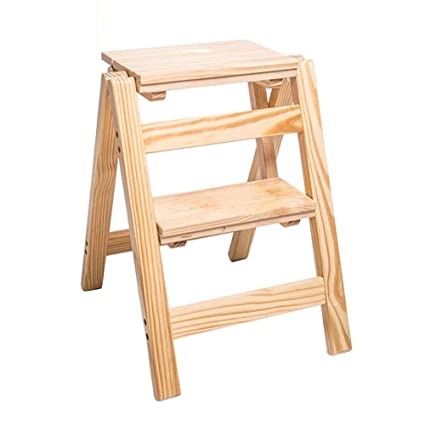 Wondrous Amazon Com Wwl Wood Step Stool Folding 2 3 4 Tier Ladder Inzonedesignstudio Interior Chair Design Inzonedesignstudiocom