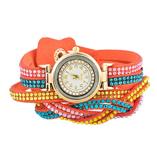 Loweryeah Cortex Rhinestone-Studded Female Student Decorated Watch Bracelet