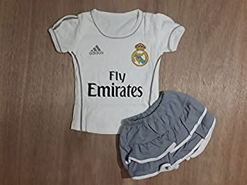 watch 2eaff 1f44a Amazon.com : Real Madrid Jersey for Baby Girls 3 - 12months ...