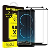 Yoyamo [2 Pack] Screen Protector for Samsung Galaxy S8 Plus, [Case Friendly][Anti Scratch][9H Hardness] [Bubble Free][HD Clear] - Black