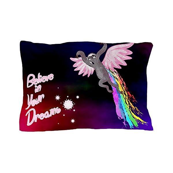 Cafepress Unique Design Believe In Your Dreams Sloth Pillow Case -
