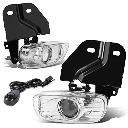 For GMC Yukon Denali/Escalade Pair of Bumper Driving Fog Lights + Wiring Kit + Switch (Clear Lens)