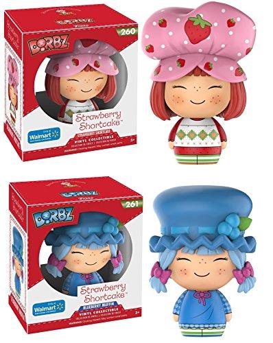 Set of 2: NEW! Funko Dorbz - Strawberry Shortcake #260 & Strawberry Shortcake Blueberry Muffin #261 - Walmart Exclusive (Hard to (Homemade Ariel Costume)