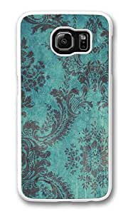 Grunge Teal1 Custom Samsung Galaxy S6/Samsung S6 Case Cover Polycarbonate White