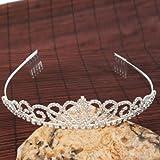 Follsy Gorgeous Pretty Rhinestone Tiara Crown Exquisite Headband Comb Pin Wedding Bridal Birthday Tiaras