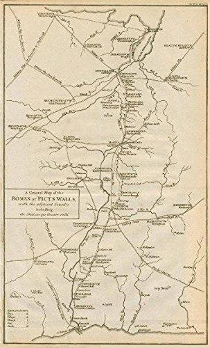Muro De Adriano Mapa.Muro De Adriano Un Mapa De La Roman O Paredes De Los