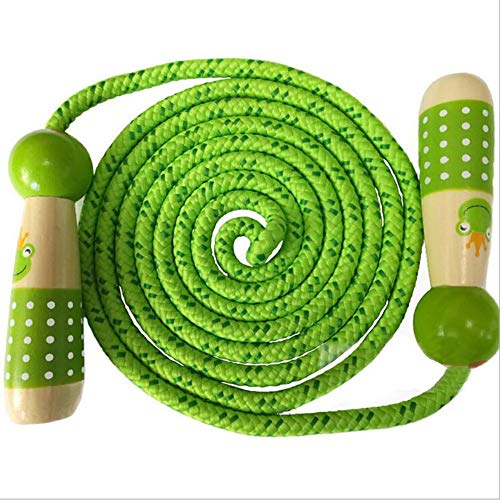 - Egosky Jump Rope Kids, Children Adjustable Cotton Skipping Rope with Wooden Handle for Boys and Girls Fitness Training/Exercise/Outdoor Activity Fun Toy(7.2ft)
