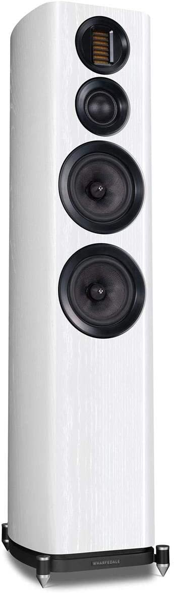 "Wharfedale EVO4.4 Dual 6.5"" 3-Way Floorstanding Speakers, Pair, White Ash"