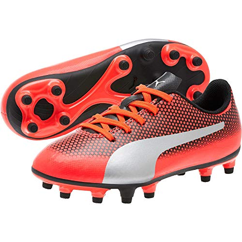 Pictures of PUMA Kids' Spirit Fg Soccer Shoe 2042271 Yellow/Red 2