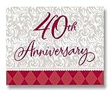 : 40th Wedding Anniversary Invitations, 8ct