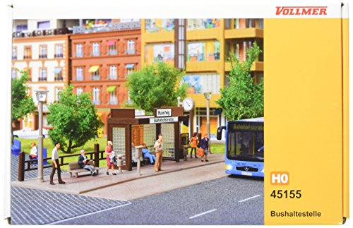Ho Bus Stop - Vollmer 45155 Bus Stop Kit HO Scale Model Structure
