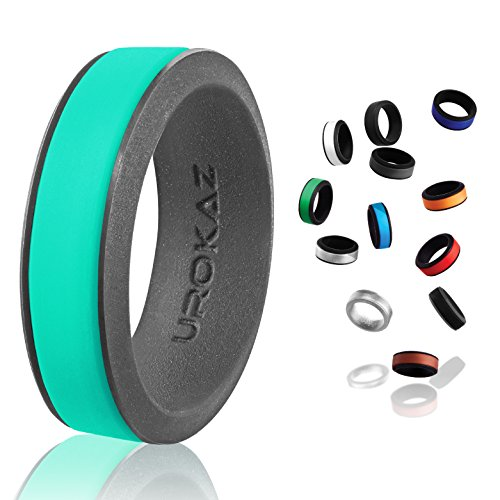 silicone wedding ring for men 6.5 cool rings camo men's safety waterproof rings! rubber silicon jade size 11 plastic clothes tungsten smart fit watch tool wristbands mens 13 10 pack qalo 9 silver from UROKAZ