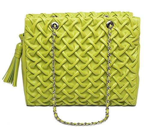 Josephine Osthoff Handtaschen-Manufaktur, Borsa a tracolla donna Verde verde one size