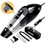HOTOR Car Vacuum Cleaner High Power, Vacuum for Car, Best Car Vacuum, Handheld Portable Auto Vacuum Cleaner Powered by 12V Outlet of Car, Come with Only 1 Stainless Steel HEPA Filter – Silver