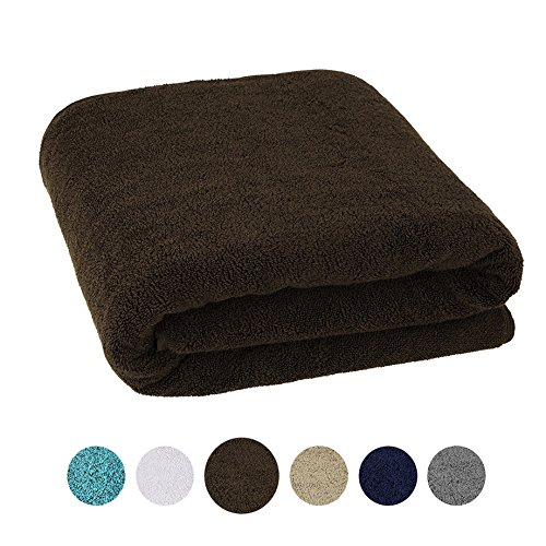 40×80 Inches Jumbo Size, Thick and Large 650 GSM Bath Sheet 100% Genuine Cotton, Luxury Hotel & Spa Quality, Absorbent and Soft Decorative Kitchen and Bathroom Turkish Towels, Brown