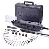 Rotary Tool Kit Variable Speed with Flex Shaft, 59 Accessories, Carrying Case, Multi-Functional for Around-The-House and Crafting Projects | RTD34AC