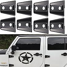 Opar 8PCS Black Door Hinge Cover for 2007 - 2017 Jeep Wrangler 4 Door