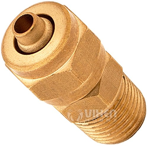 Vixen Horns 3//8 OD Nylon Plastic Hose 10 Feet w// 1//4 NPT and 1//8 NPT Brass Compression Fitting for Train//Air Horn Systems//Suspension VXK8101