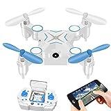RC Drone Foldable Mini WiFi FPV Quadcopter Drone with 720P HD Camera Live Video Headless Mode 2.4G 4CH RTF APP Remote Control Helicopter Drone