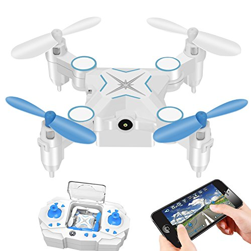 Video Mini Quad (RC Drone Foldable Mini WiFi FPV Quadcopter Drone with 720P HD Camera Live Video Headless Mode 2.4G 4CH RTF APP Remote Control Helicopter Drone)