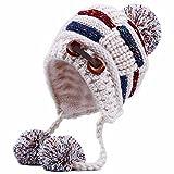 Fashion Knitted Hat Winter Warm Ear Hat Ski Cap Ski Hat Earmuffs Outdoor