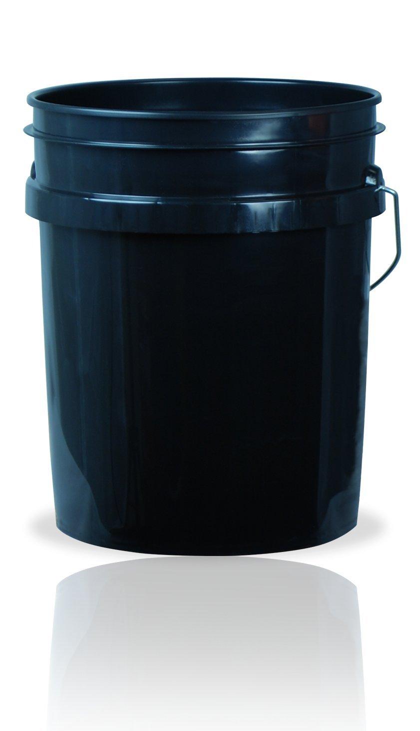 5 Gallon (20L) Plastic Buckets, 3-Pack - Black