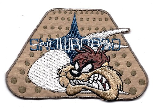 TAZ DEVIL Face w gritted teeth in Looney Tunes Snowboard Embroidered Iron On / Sew On Patch Applique ~ freestyle snowboarding