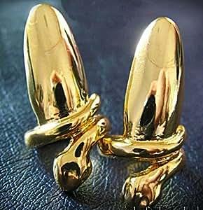 Fashion Gold Color Nail Ring - Qty 2