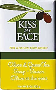 Kiss My Face Moisturizing Bar Soap for All Skin Types - Olive & Green Tea - 8 oz