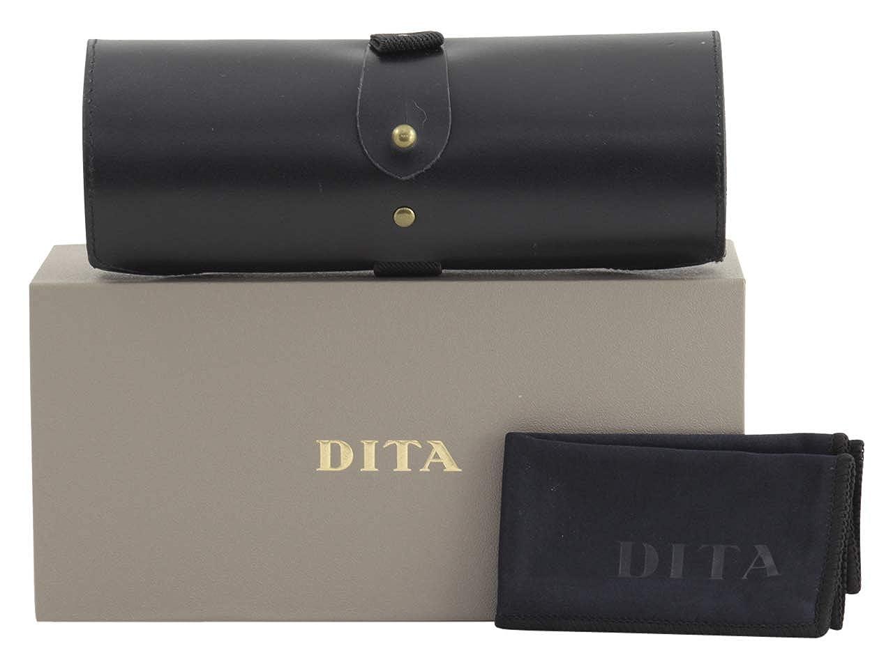 2f503968ec68 Amazon.com  Dita Mikro DTX500 52-01 Black Rose Gold Metal Round Sunglasses  Demo  Clothing