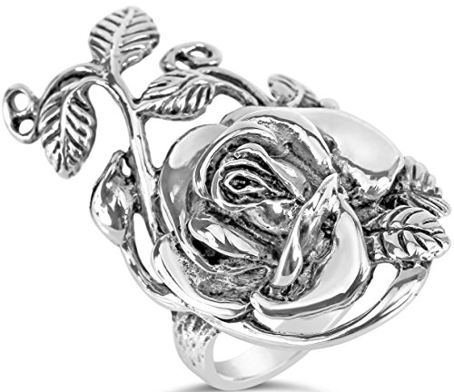 Floral Collection Womens Sterling Silver Oxidized Rose Vine Ring Size - Infinity Collection Tiffany