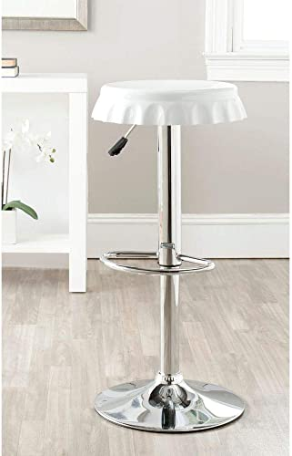 Safavieh Home Collection Bunky White Adjustable Swivel Gas Lift 23.6-32.1-inch Bar Stool