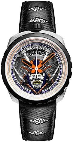 [ボンバーグ] メンズ 腕時計 自動巻き 懐中時計 ポケットウォッチ ボルト68 サムライ リミテッドエディション BOLT-68 BS45ASP.042-1.3 革ベルト 黒 ブラック 侍