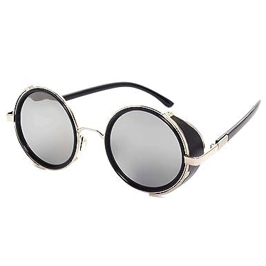 Highdas Unisex Gafas de sol Reflectantes Retro Vintage ...