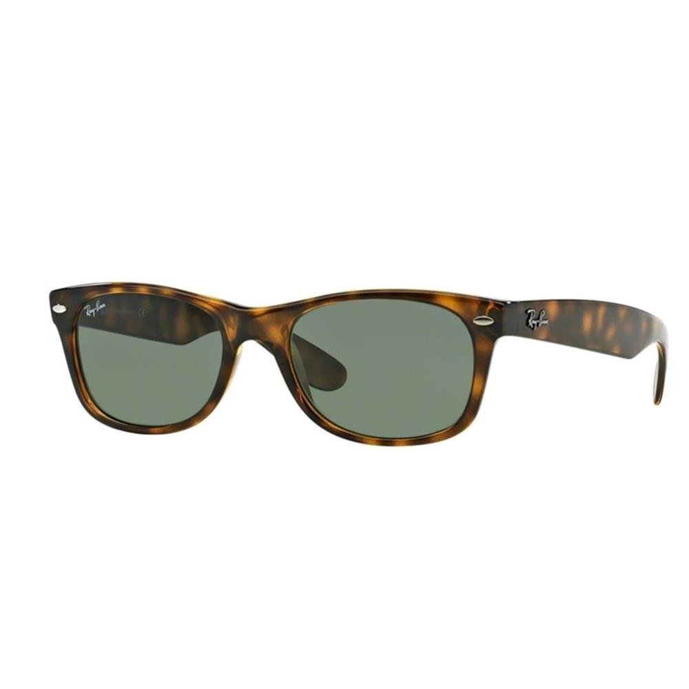 Ray-Ban RB2132 New Wayfarer Non Polarized Sunglasses,Tortoise, Green, 55 mm by Ray-Ban