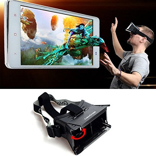 Colorcross II Plastic 3D Glasses Google Cardboard VR Virtual Reality Movie Video Games Oculus Rift For 4 to 6 Inch Smartphone