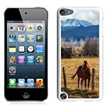 Fashionable Designed Cover Case For iPod 5 Touch With Horse At The Barn Animal Mobile Wallpaper (2) Phone Case